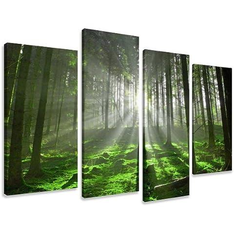 Cuadros en Lienzo naturaleza 130 x 80 cm modelo Nr. 6130 XXL Las imágenes estan listas, enmarcadas en marcos de Madera auténtica. El diseño de la impresión artística como un Mural