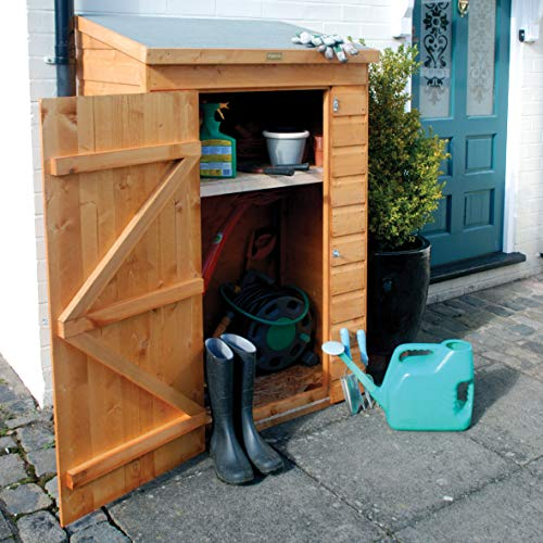 51VtMUs6cOL. SS500  - Mini Wooden Store Small Outside Storage Unit with Shiplap Cladding