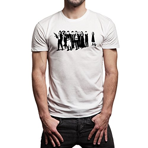 Reservoir Dogs Movie Quentin Tarantino Team Members Walking Together With Guns Interesting Background Herren T-Shirt Weiß