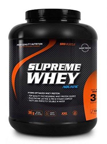 SRS Muscle - Supreme Whey XXL, 1.900 g, Vanille-Rhabarber   Hydro-optimized Whey Protein   mit Enzym Laktase und Pro-B Vitaminen   aspartamfrei   deutsche Premiumqualität