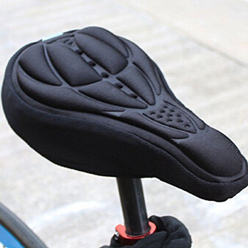 Romdink Generic Cycling 3D Silikon Weiches Dickes Gel Kissenbezug Mountainbike Sattel Sitzkissen -