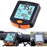 Sookg - Velocímetro para Bicicleta, Impermeable, multifunción, con Cable