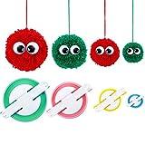Osup Pom Pom Maker, 4 Sizes Fluff Ball Weaver Needle PomPom Maker Sets-DIY Pompoms Craft Doll Making Kits -Wool Yarn Knitting Craft Tool Set Pom-Pom Maker for Kids & Children or Adults