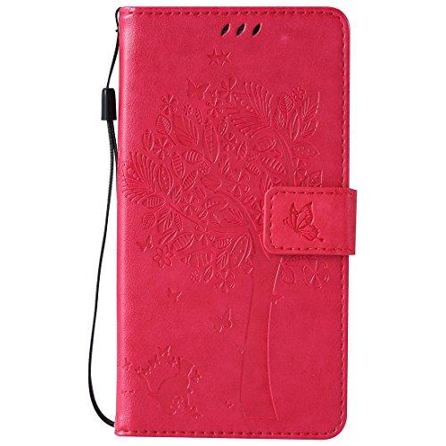 Nancen Compatible with Handyhülle Galaxy Note 4 / SM-N9100 Flip Schutzhülle Zubehör Lederhülle mit Silikon Back Cover PU Leder Handytasche (Note Galaxy Edge-akkudeckel)