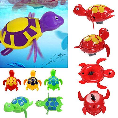 mxjeeio 1pcs Uhrwerk Badezimmer-Spielzeug,Baby Bade Bad Schwimmen Badewanne Pool Spielzeug Nette Wind up Schildkröte Tier Badespielzeug für Kinder