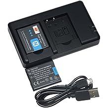 DSTE 2PCS NP-BN1(1500mAh/3.7V) Batteria Caricatore Kit per Sony Cyber-shot,DSC-QX10,DSC-QX100,DSC-T99,DSC-T110,DSC-TF1,DSC-TX5,DSC-TX7, DSC-TX9,DSC-TX10,DSC-TX20,DSC-TX30 Fotocamera
