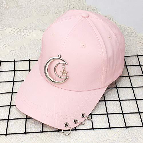 zlhcich Hut weiblichen Pin Hoop Baseball Cap männlichen fünfzackigen Stern Anhänger Kappe Freizeit Sonnenschirm Hut -