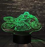 Lampade 3D Illusione Ottica Luce Notturna Lampada Moto K Led Da Tavolo Illuminazione Luce Di Notte 7 Colori Controllo Tattile Lampada Decorazione Da Comodino