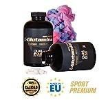 Glutamina para la recuperación muscular - Suplemento deportivo de L-Glutamina para aumentar la masa muscular - Protege el organismo y proporciona energía - Ideal para deportistas - 360 comprimidos