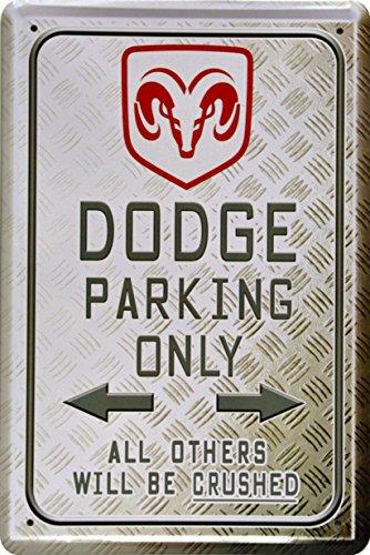 barschild-baraccessoires-dodge-parking-only-blechschild-dekoschild-20x30cm-metal-sign-xps33ba