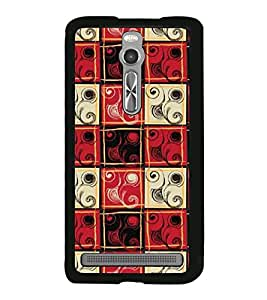 Fuson Premium 2D Back Case Cover Red pattern With black Background Degined For Asus Zenfone 2::Asus Znfone 2 ZE550ML