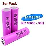 3x Samsung SDI INR18650-30Q - Akku - 3.7V - 3000mAh - 15A - Ideal für E-Zigarette Werkzeug E-Bike Notebook Modellbau