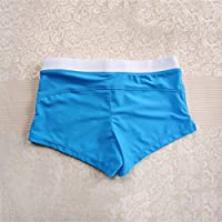 Delicacydex Fashion Front Slit Men Natación Shorts Slim Cut Swimwear Quick Drying Swimming Trunks Sexy Men Swim Briefs Hot Beach Shorts - Royal Blue XL
