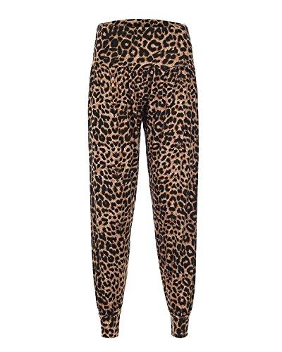 Damen Gedruckt Ali Baba Harem Hose Gr. XXX-Large, Leopard-Print (Geparden-print-leggings)
