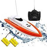 Rabing F1 Hochgeschwindigkeits-RC-Boot-Fernbedienung Elektroboot-Rot (funktioniert nur im Wasser)