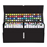 #4: Bianyo Dual Tip Art Markers Set- Permanent Sketch Drawing Pens, 72 Colors