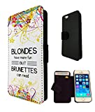 433 - Fun Blondes Have More Fun But Brunettes Can Read Design iphone SE - 2016 Fashion Trend TPU Leder Brieftasche Hülle