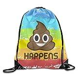 Lesif Poop Saft mit Emoji-Kordelzug Rucksack Einkaufsnetze,
