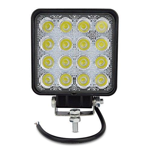 QXXZ 48W LED Offroad-Arbeits-Licht-Lampe Für LKW-Boots-Fahrzeuge 4X4 Traktor ATV-Flut-Lichtstrahl 60 Grade 12V 48WS-FL