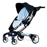 4moms origami Kinderwagen, elektrischer Buggy automatisch zusammenklappbar, mit Getränkehalter, Beleuchtung und Handy-Ladung, schwarz