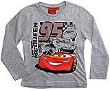 Cars Disney 3 Langarmshirt Lightning McQueen Jungen (Grau, 98)