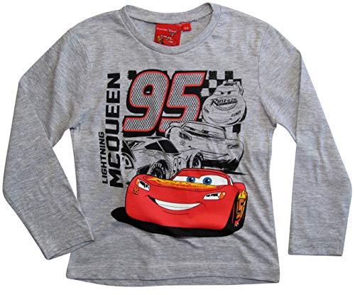 Cars Disney 3 Langarmshirt Lightning McQueen Jungen (Grau, 92-98)