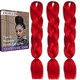 Jumbo Braids-Premium Qualität 100% Kanekalon Braiding Haarverlängerung Full Bundles 100g / pc Synthetik Haar Ombre 24Inch 3Pcs / lot Hitzebeständig, lange Zeit mit-37 Farben 2Tone & 3Tone, Garantie 1 Woche ändern oder Rückerstattung (Farbe 62)
