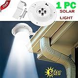 Wokee Neue 4 LED Solarbetriebene Gutter Licht Pathway Lampe Drahtlose Helle Sensor-Beleuchtung für Patio, Zaun, Yard, Garten, Garage, Treppenhaus, Tor, Wand