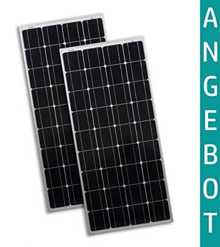 2 Stück 100W Watt Solarmodul 12V Monokristallin - Solarpanel - PV-Modul - Solar Photovoltaik - Camping - solarXXL