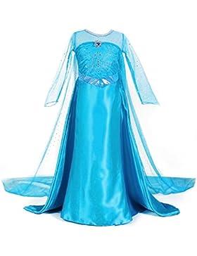 [Patrocinado]URAQT Traje del Vestido / Traje de Princesa de la nieve Vestido infantil Disfraz de Princesa de Niñas para Fiesta...