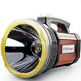 XIXI Highlights Taschenlampe Wiederaufladbare Langstrecken Led Super Helle Jagd 5000 Multifunktions Spezialeinheiten Suchscheinwerfer Lampe Tragbare Licht Lange Lebensdauer Notbeleuchtung,Braun