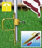 WENKO Sonnenschirm-Pflock PROFI - Stahl - 42 cm - Erdspieß für Schirm oder Wäschespinne