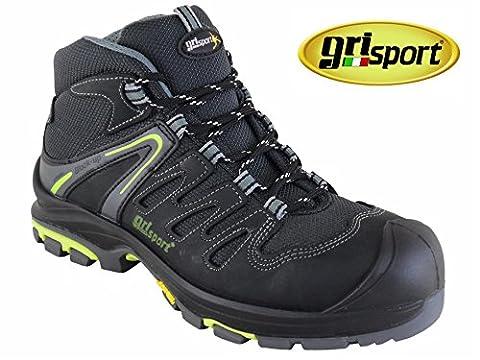 Grisport Trojan, Herren Sicherheitsschuhe Schwarz schwarz (Resistant Steel Toe Schuhe)