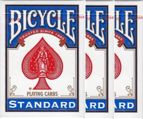 Preisvergleich Produktbild 3 deck shrink pack BICYCLE (Baisukuru) 808 STANDARD rider back playing cards poker size blue (japan import)