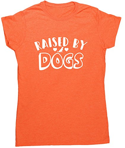 hippowarehouse-raised-by-dogs-womens-fitted-short-sleeve-t-shirt