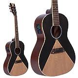 Lindo Guitars Guitare électro-acoustique Aztec Parlour Traveller Préampli/Accordeur?Noir/naturel