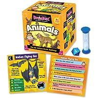 Green Board Games BrainBox Animals - Juego de preguntas sobre animales (en inglés)