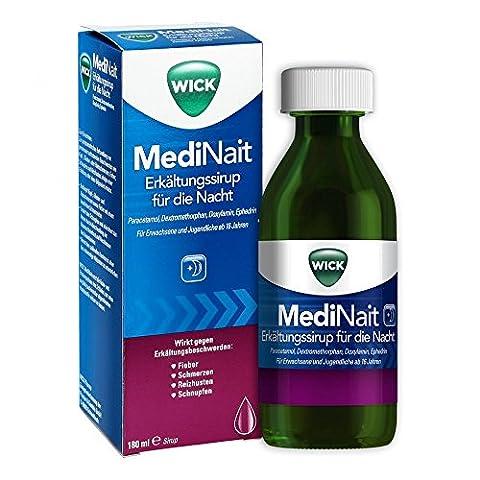 Wick MediNait Erkältungssirup für die Nacht, 180 ml
