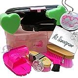 Kinder Pferde Putzbox Schutzengel pink mit Namensgravur