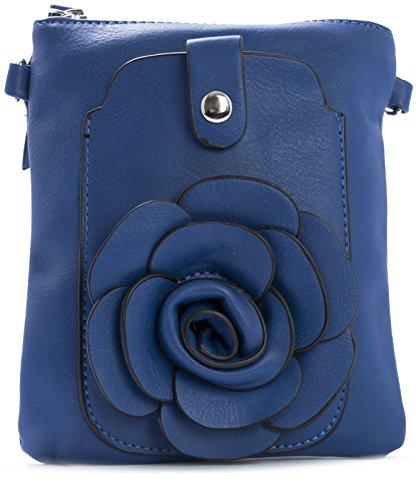 Big Handbag Shop - Borsa a tracolla donna Blu (Blu Royal)