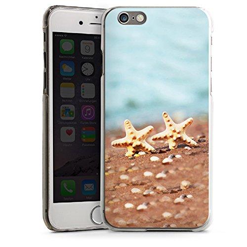 Apple iPhone 6 Housse Étui Silicone Coque Protection Étoile de mer Plage Sable CasDur transparent