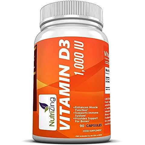 ★ NutriZing Vitamin D3 1000 IU supplement