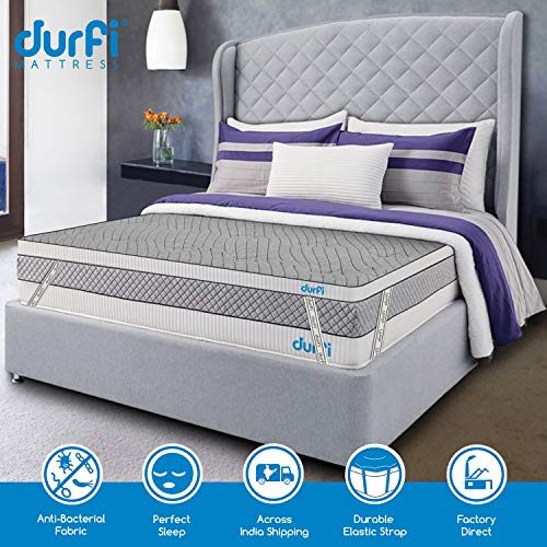 Durfi 2-Inch Orthopedic Queen Size Memory Foam Mattress Soft Topper in Grey (72x60x2 Inch, Memory Foam) Image 2