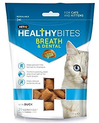 VETIQ Healthy Breath and Dental Cat Bites, 65 g, Pack of 8