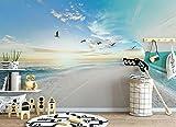 Weaeo Benutzerdefinierte Große 3D-Wallpaper Murals Meer Himmel Landschaft Foto Tapete Wohnzimmer Schlafzimmer Non-Woven Tapeten Für Kinder Zimmer-120 X 100 Cm