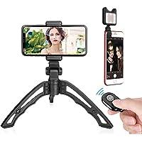 Miao Lab 3 en 1 Universal Selfie Kit inalámbrico con Mini Trípode de mano portátil Control Bluetooth Control remoto Selfie Luz LED para cámara Smartphone Gopro iPhone X 8 / 8Plus 7 / 7Plus Samsung S9 S8 S7