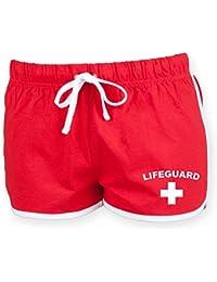 LIFEGUARD Ladies Shorts (Red & White)