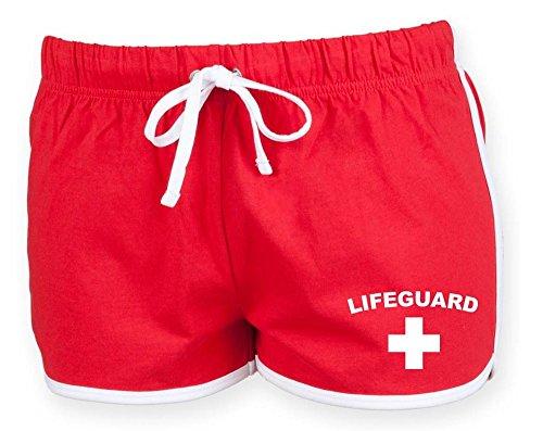 LIFEGUARD Damen Shorts (Rot & Weiß) (38)
