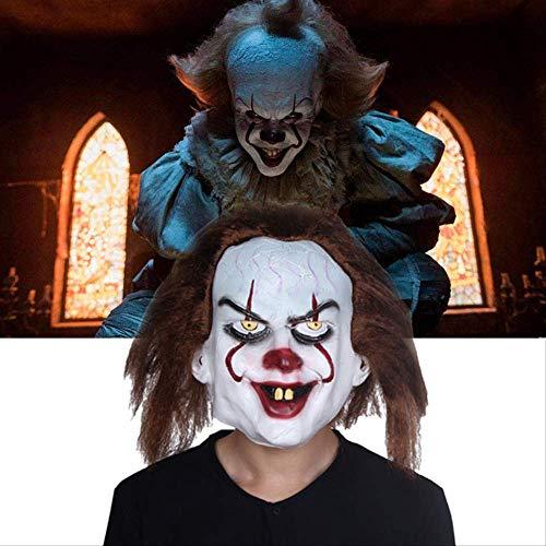 dhude Latexmaske Clown Headgear Halloween Maske Horror-Movie Face Rückkehr Soul Clown Maske