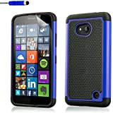 32nd® Funda Rígida Anti-Choques de Alta Proteccion para Microsoft Lumia 640 Carcasa Defensora de Doble Capa - Azul